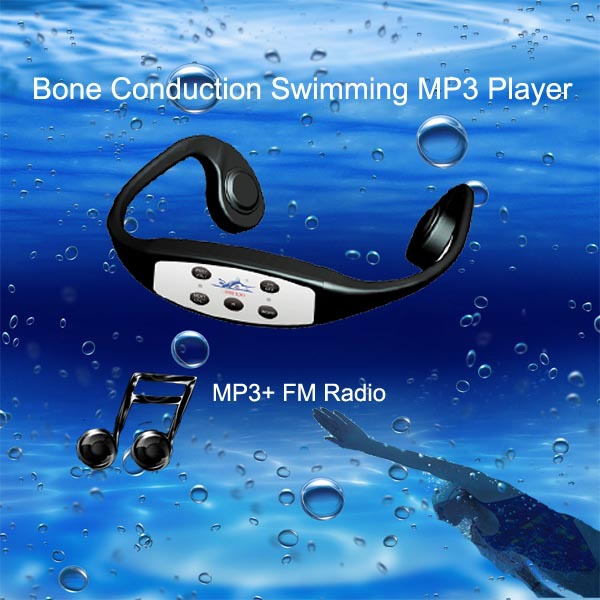 Shenzhen Supplier H-904M FM Radio Waterproof Level IPX8 Earphone for Swimming MP3
