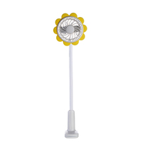 Sunflower air cooler stand clip electric rechargeable portable USB mini desk fan