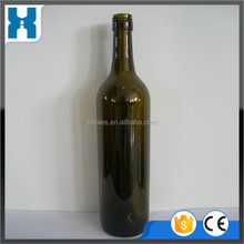 750ML RED COLOUR GLASS WINE BOTTLES WHOLESALE