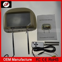 2014 new style! car headrest mount portable dvd player with one year warranty and factory price