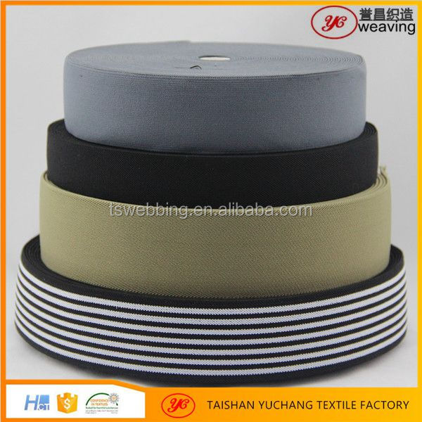 eco-friendly material elastic webbing woven flat elastic band