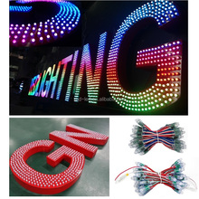 Advertising Backlighting Programable Led Point Light 12mm full color , RGB led pixel lights smart IC waterproof led pixel module