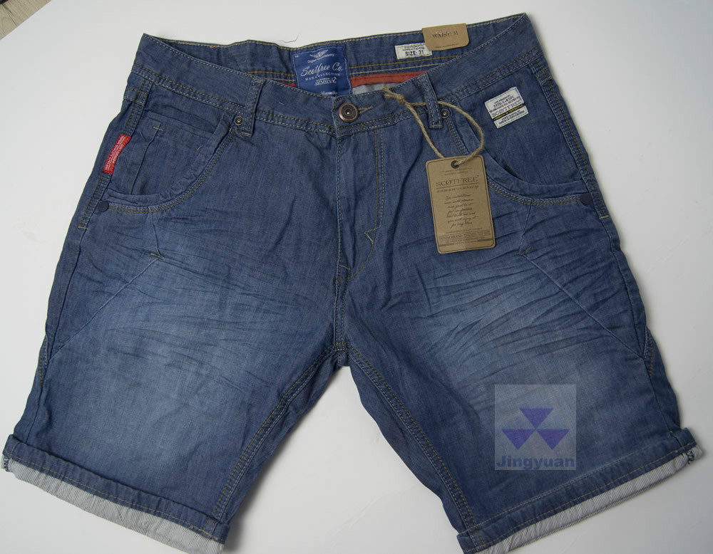 short denim jean for man good quality competitive price OEM service