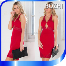 Sexy image bodycon dress 2016 woman new fashion sleeveless dress in red