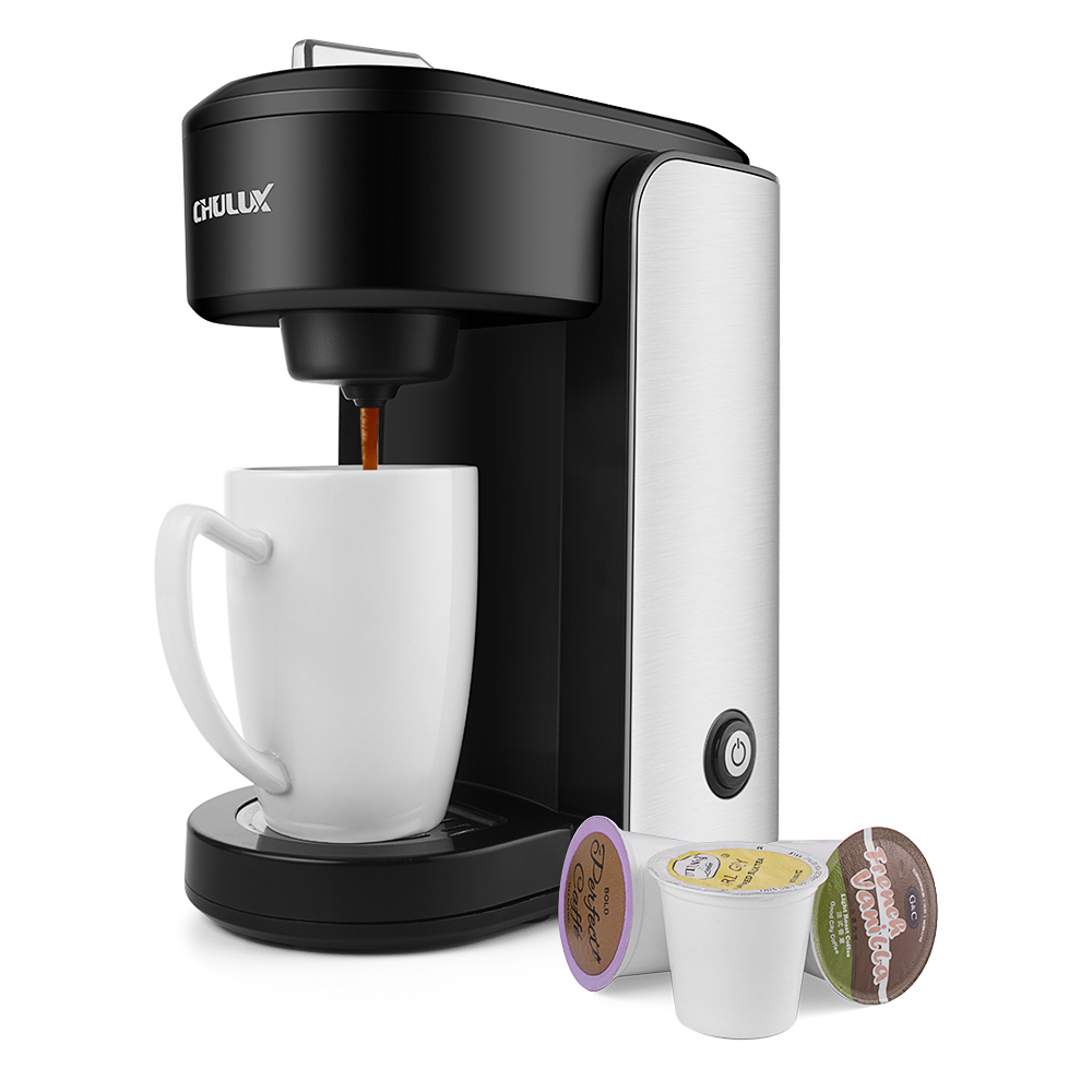 Chulux Single Serve Coffee Maker For K Capsule Stainless Steel