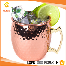 Hammered Copper plated Moscow Mule Mug Stainless steel Beer Cup Copper mug Rose gold Drinkware