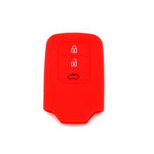 High quality 3 buttons silicone rubber car key case shell for Honda