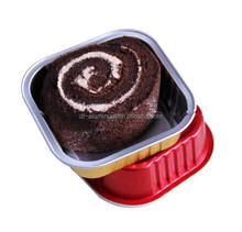 Square Aluminum Foil Container/Box/Baking Cup with Lids