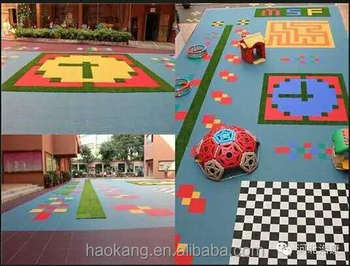 Kids lovely Safe and environmental protection playgroung floor tile