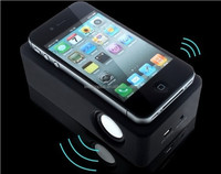 OEM New invented Wireless Dynamic Amplifying Induction Portable Speaker for iPhone/ Gift Speaker, portable speaker