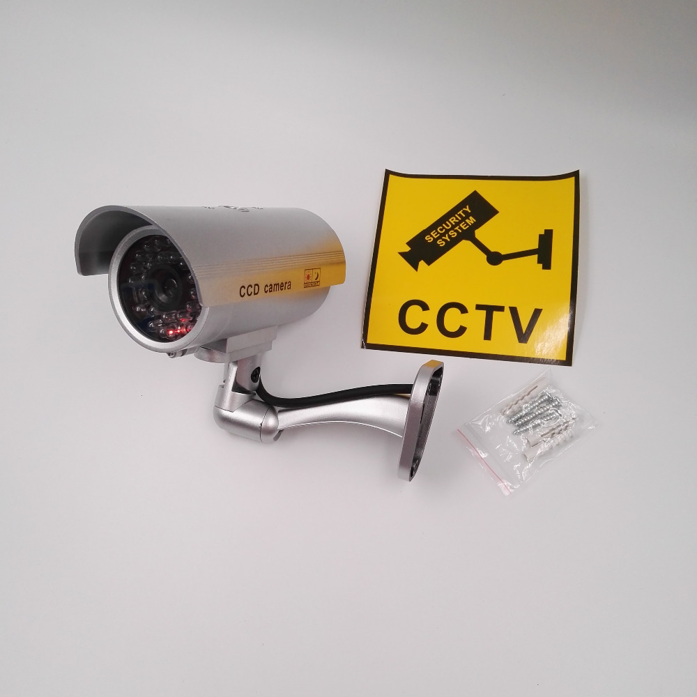 Realistic Looking Dummy CCTV <strong>Camera</strong> for Indoor Outdoor Use With Red Flashing LED