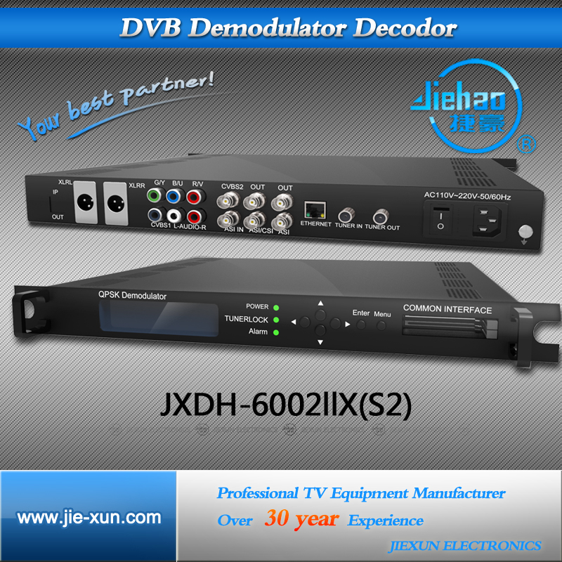 DVB-S2/S Pal Bg RF HD Demodulator Decoder