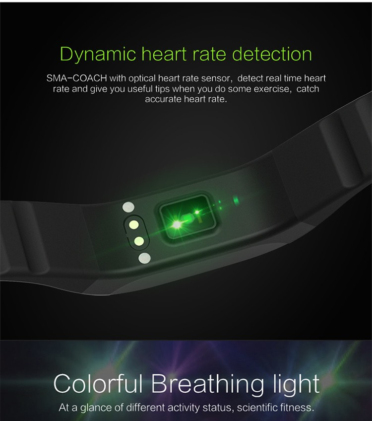 "0.88"" OLED display wristband pedometer call reminder multi language message display fitness tracker"