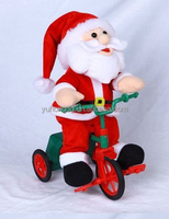 singing santa in tricycle