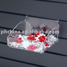 B-74 Wall-mounted Clear Acrylic Case/Slat-wall Plexiglass Candy Box/Wall-hanging Plastic Display Contanier-200mm wide