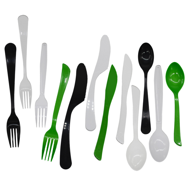 biodegradable compostable disposable knife and forks cutlery set