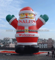 2015 outdoor inflatable christmas santa and snowman, large inflatable snowman C1030