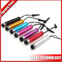promotional touch pen with earphone dustroof smart phone keychain stylus