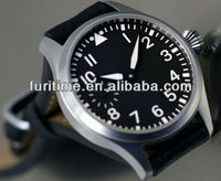 pilot watch leather watch strap japan movement stainless steel watch for men