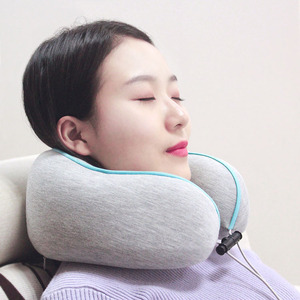 Gift design folding rebound foam head support travel car neck pillow for driving life