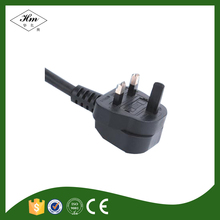 Plastic Ground Pin UK Power Cord with BS certificate