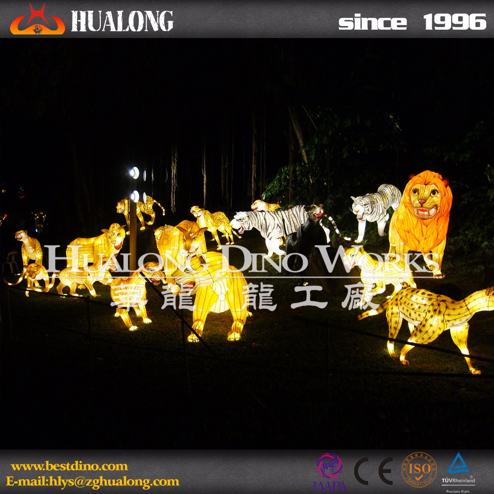 Hand Operated Colourful Animal Lantern Show in zigong