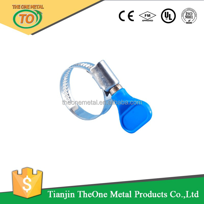 hot sale plastic hand butterfly pipe clamp