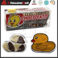Halal Yellow Duck Shape Chocolate with Biscuit / Choco pato