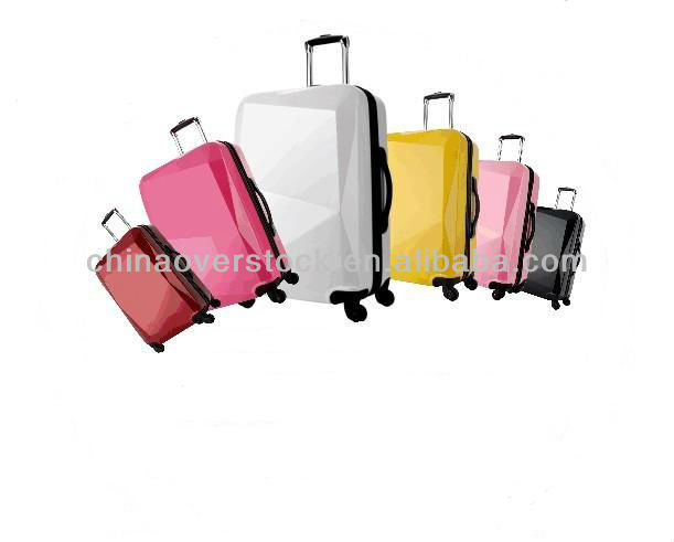ABS PC Travel Luggage 3PCS Trolley Luggage Bag ABS PC DIAMOND shell