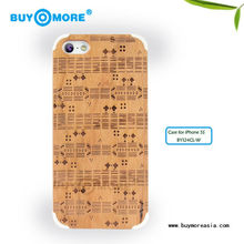hot!!! cherry wooden tpu bumper case for iphone 5 5s