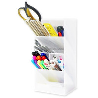 Multipurpose white acrylic pen display stand for office stationery