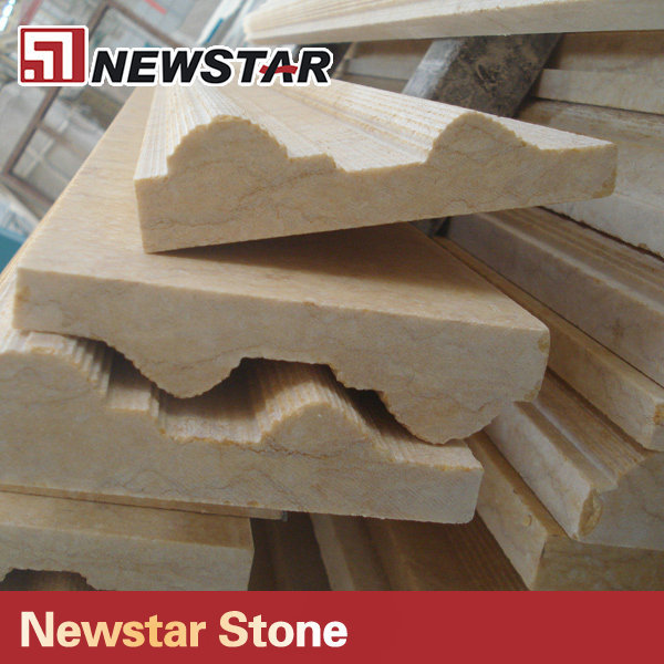 Architectural Molding Product : High quality beige marble decorative molding buy