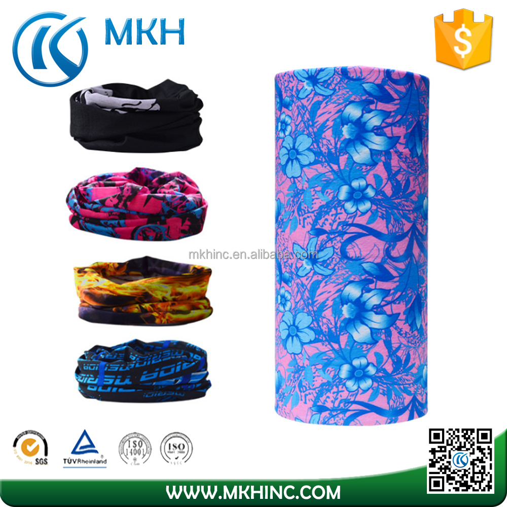 Custom Made 100% Polyester Headband Sweatband for Fishing Hiking Running Motorcycling