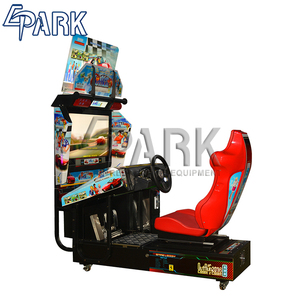 Hot sale adult car racing video arcade game machine