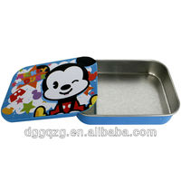 metal mint slide tin case