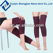 Magnetic therapy tourmaline spandex knee brace long knee brace