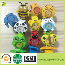High Quality Supper Cute Silicone Carton Slap Wrist Watch for Kids