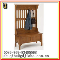 MDF hall tree with bench
