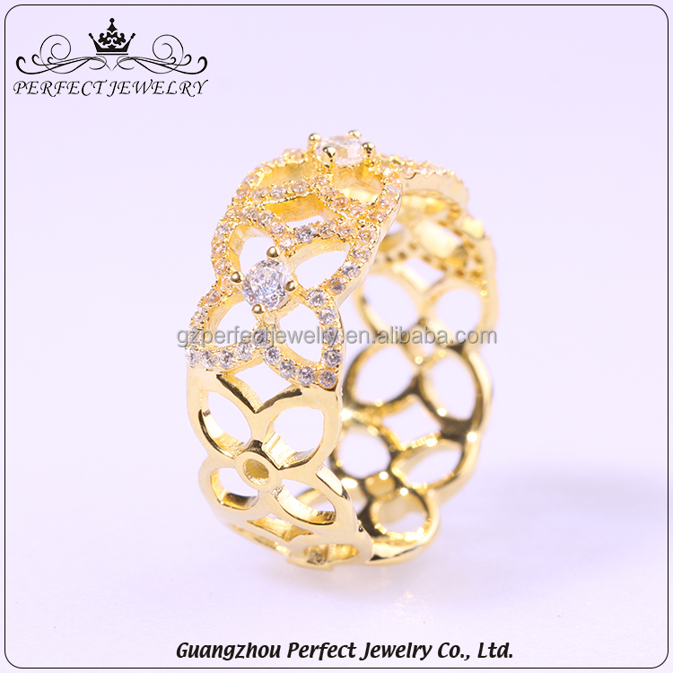Custom Top Qualtiy Charming Style Birthday Gift Jewelry 2017 Fashion New Design Gold Finger Ring