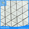 Polished bamboo black and white marble mosaic floor tile