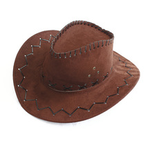 wholesale child and adult cheap cowboy hat suede promotional cowboy hat