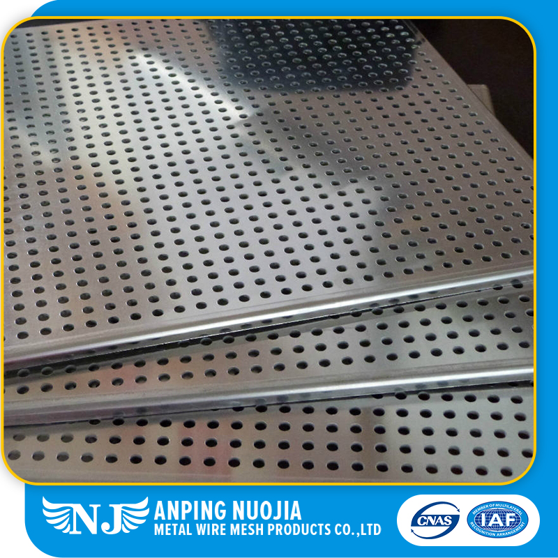 Electro Galvanized Perforated Metal Mesh For Radiator Cover Mesh
