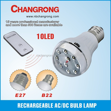 rechargeable AC/DC bulb straw led lamp