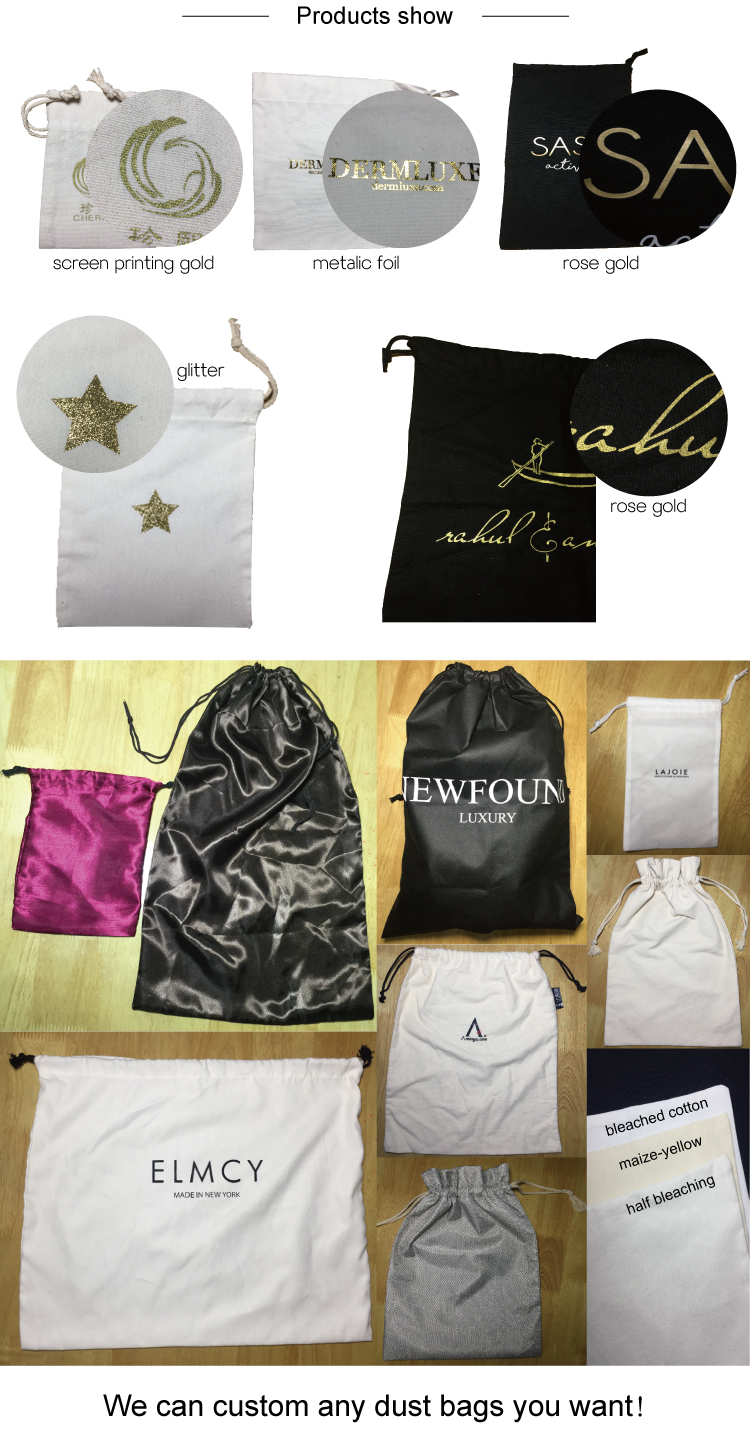 Customized Shopping Bag Non Woven Promotional Drawstring Bag with Logos
