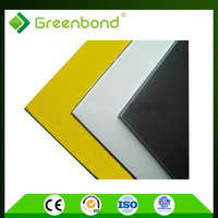 Greenbond knocking resisitant factory supply prefab hous wall cladding aluminum composite panle acp acm