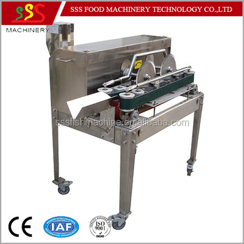 Salmon slicers salmon filleting machine frozen fish for Fish fillet machine