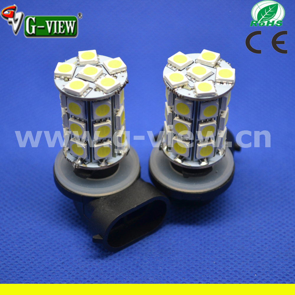 27smd 5050 12v car led auto light H1 H7 H4 H3 H8 H11 880 881 9005 9006 led fog light