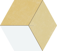 three-dimensional hexagon porcelain tile for floor and wall