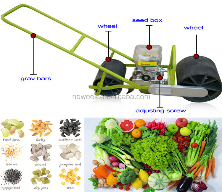 NEWEEK farm use onion vegetable single row hand seeder for sale