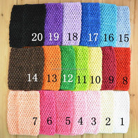 fashion Colorful Solid 20 Colors kids crochet headbands crochet tutu Top 6 inch 15CMX15CM crochet tube topWH-1313
